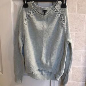 Express hi-low sweater